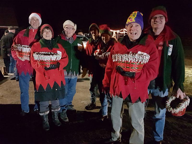 Service Club elves at the Santa Claus parade