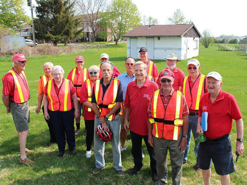 Service Club marshals for Hospice Walk