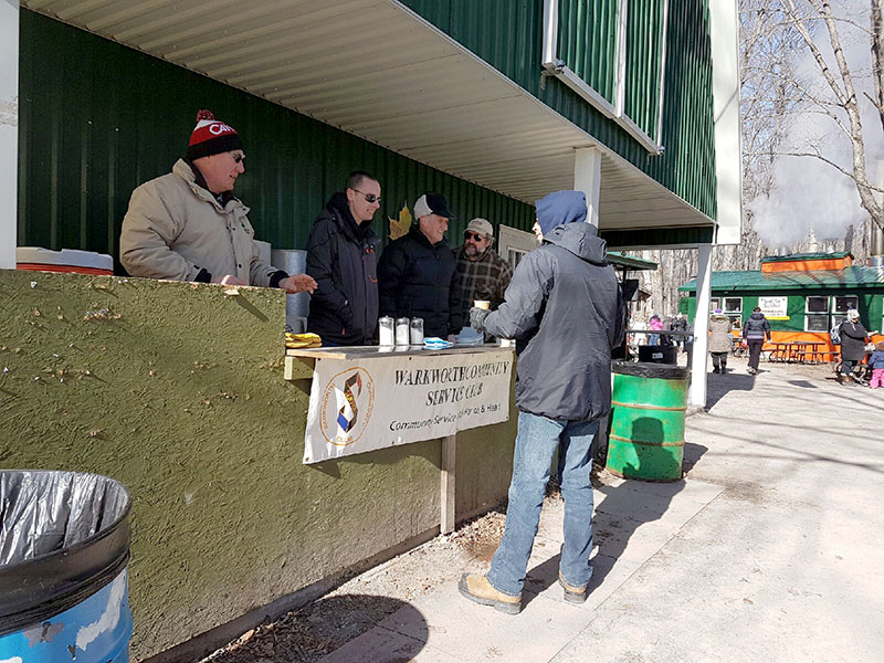 Drink counter at Maple Syrup Festival